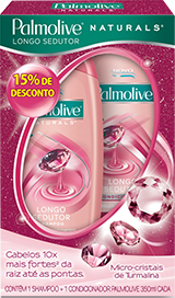 Shampoo Palmolive + Condicionador Naturals 350ml Turmalina