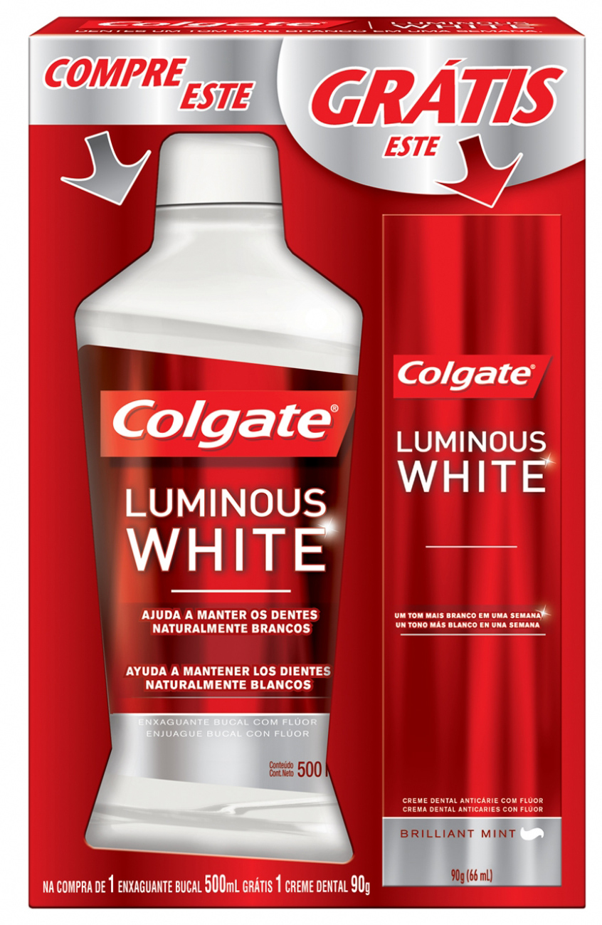 Antisséptico Colgate 500ml Luminous White (Gt.Cd.Luminous)