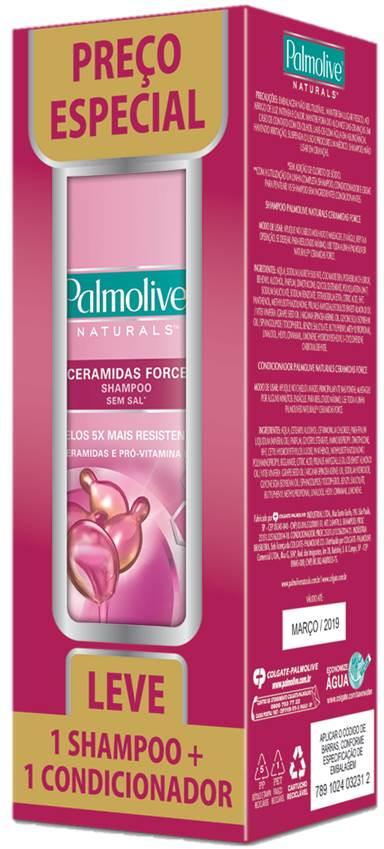 Shampoo Palmolive + Condicionador Nat 350ML Ceramidas (Preço Especial)