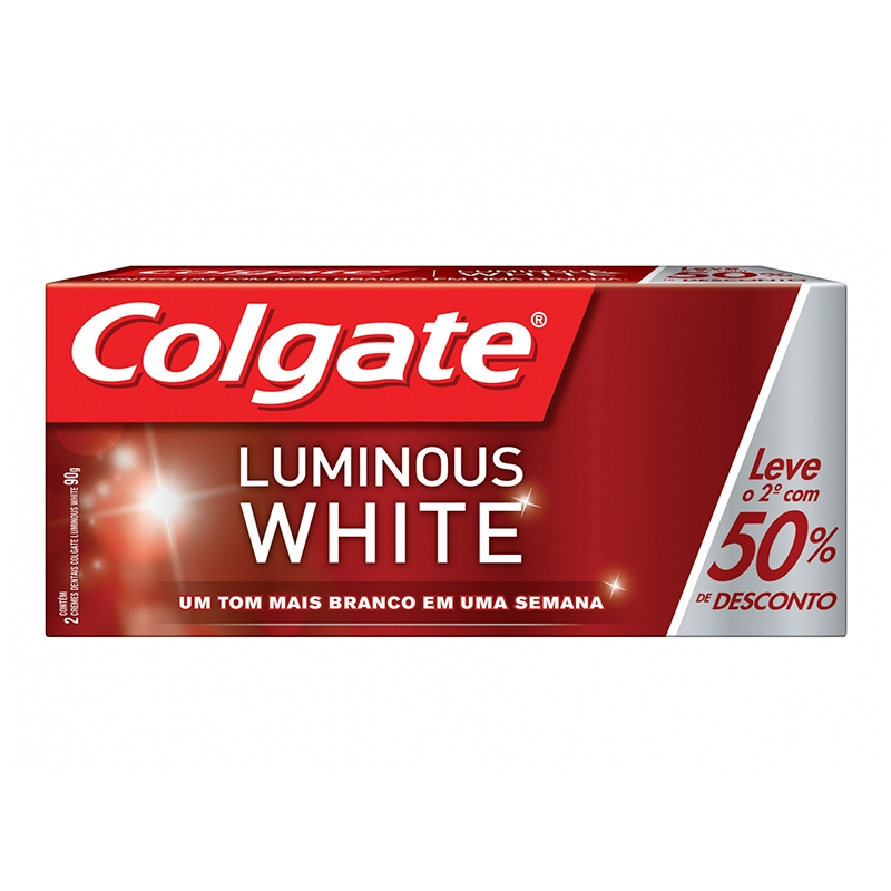 Creme Dental Colgate Luminous White 2X70G (2º C/50% Desc)