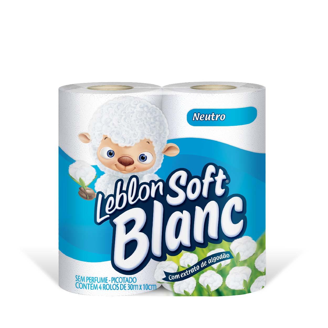 Papel Higiênico Soft Blanc 4X1(30MT) Neutro