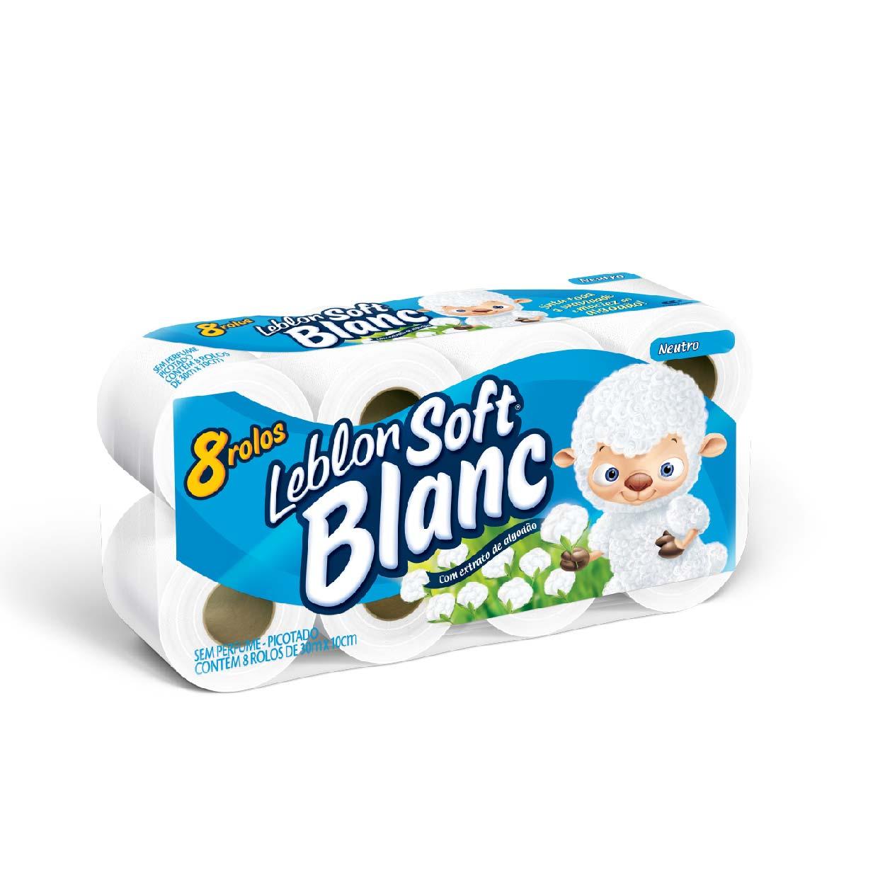 Papel Higiênico Soft Blanc 8X1(30MT) Neutro