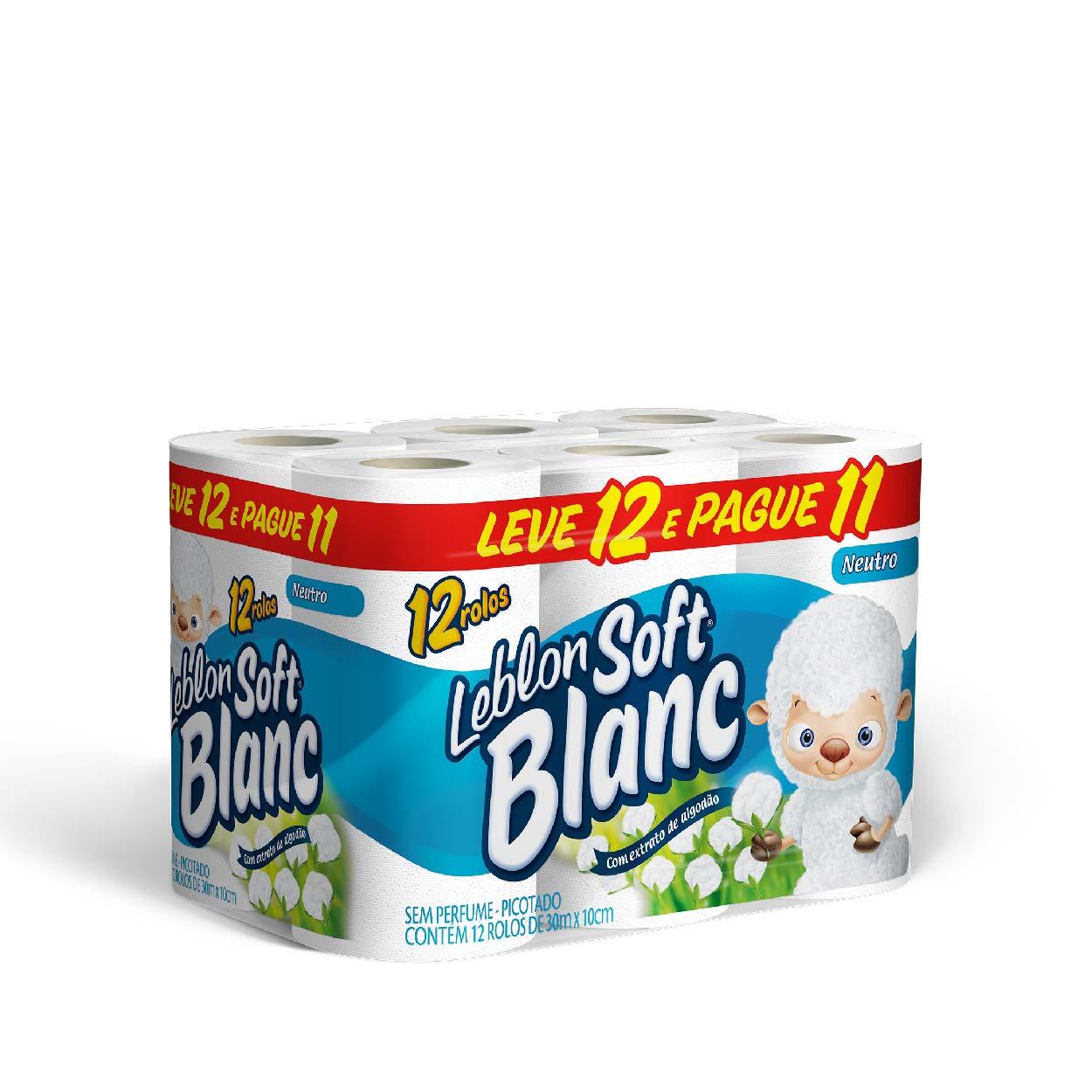 Papel Higiênico Soft Blanc 30MT (L12/P11) Neutro