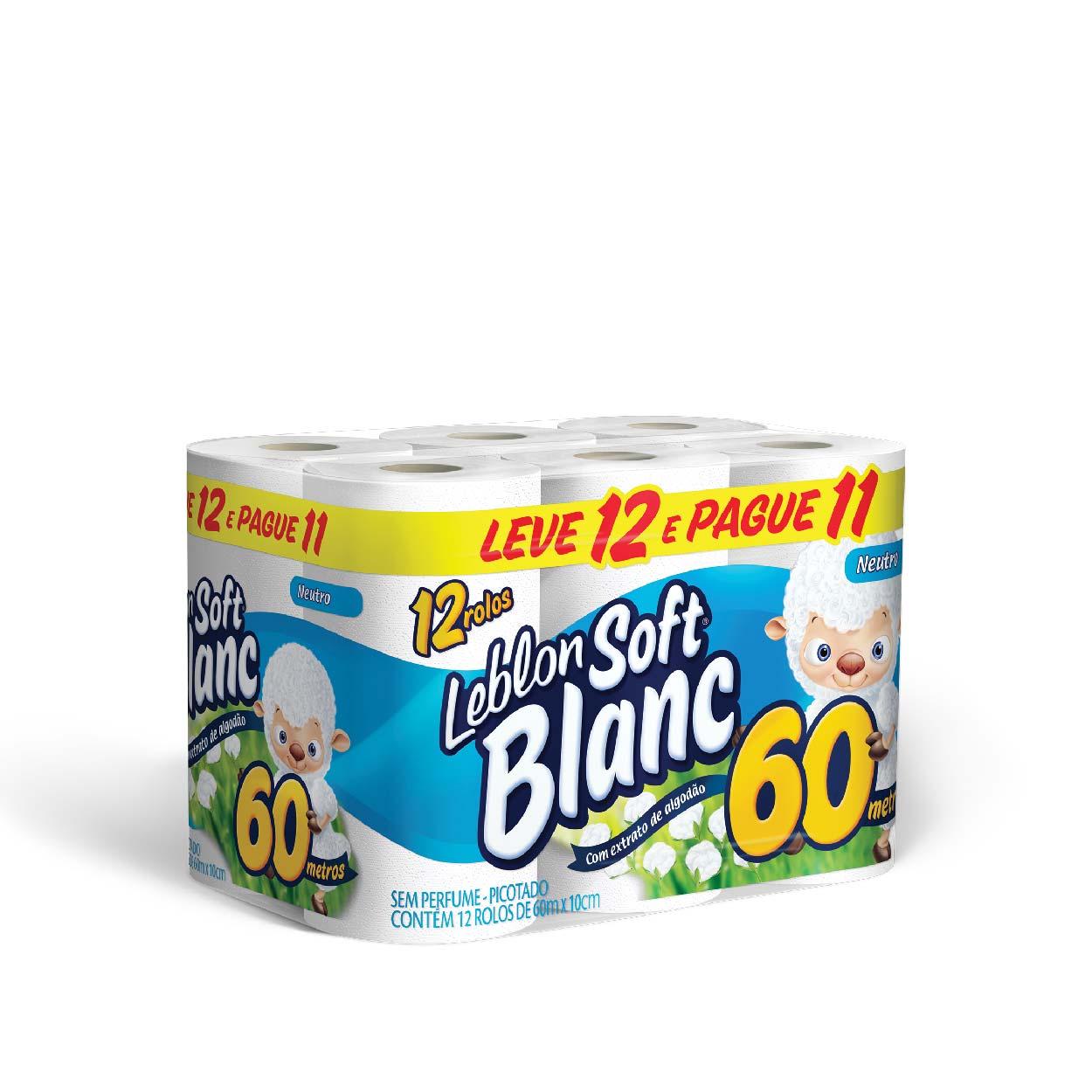 Papel Higiênico Soft Blanc 60MT (L12/P11) Neutro