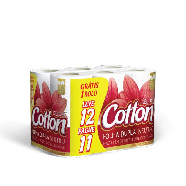 Papel Higiênico Cotton Folha Dupla 30mt Neutro (lv12/pg11)