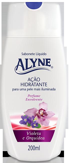 Sab. Liq. p/ corpo Alyne 200ml Violeta/Orquídea