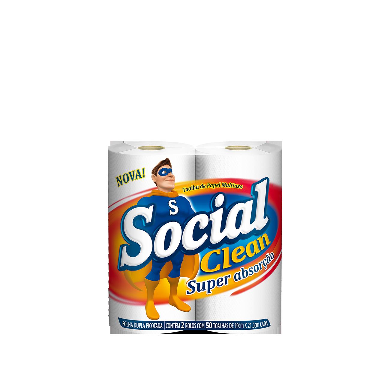 Toalha Papel Social Clean 2x50und
