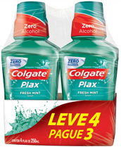 Antisséptico Colgate Plax 250ml (Leve4/Pague3) Fresh Mint