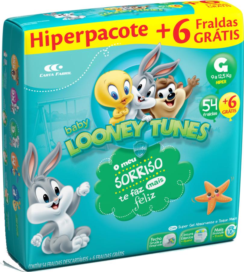 Fralda Looney Tunes Hiper G C/60