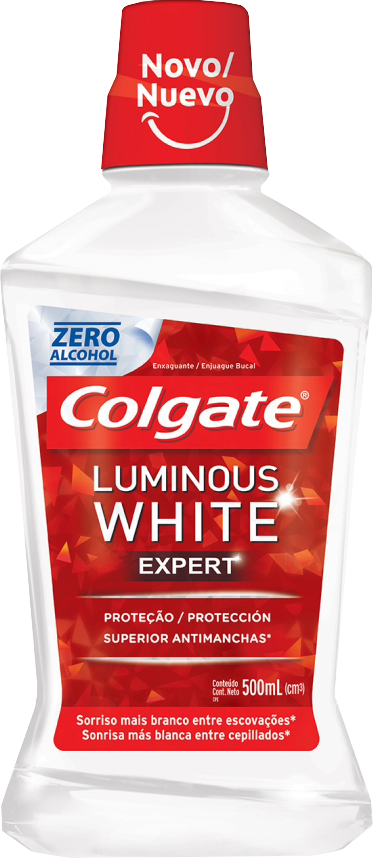 Antisséptico Colgate Luminous White Expert 500ml